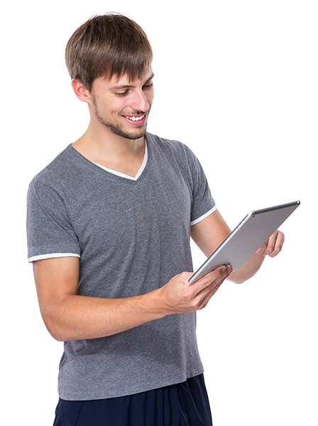 Young Man use of tablet